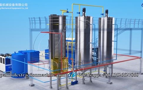 Small palm oil fractionation machine, palm oil crystallization process 3D video