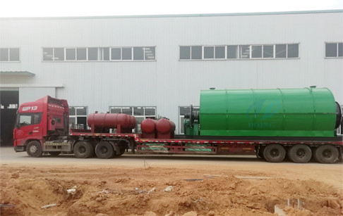 2 sets scrap tyre pyrolysis plants delivered to Yunnan, China