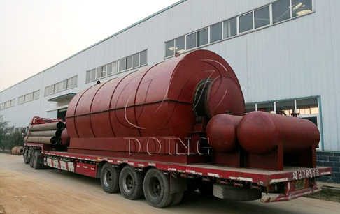 4 sets tyre pyrolysis plants for sale to Fujian, China