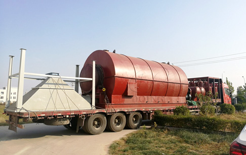 Waste tyre recycling pyrolysis plant delivered to Luoyang, China