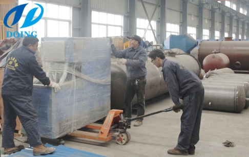 Machines of cooking oil bottle filling plant sold to Uzb...