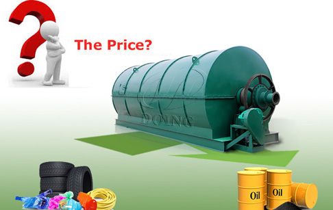 What is the the price of waste tyre and plastic recycling pyrolysis plant ?