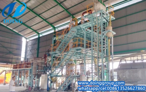 30tpd semi-continuous palm oil refinery plant installing process video in Indone...