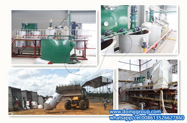 palm oil refinery plant project