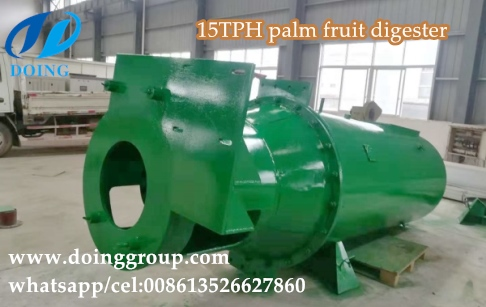 Vertical palm fruit digester machine for palm oil mill plant