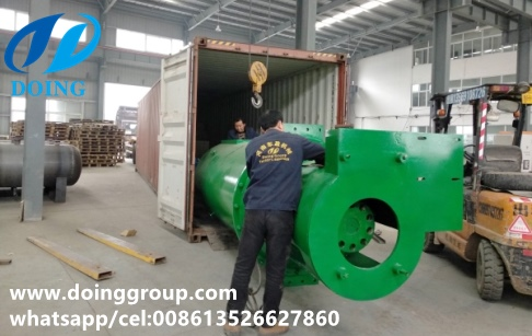 15TPH palm fruit digester and palm oil presser sent to M...