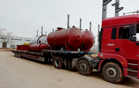 ​One set 10T/D tyre pyrolysis oil distillation plant delivery to Anhui, China