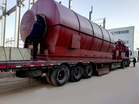 Two sets 12T/D waste tire pyrolysis to oil plants delivered to Vietnam