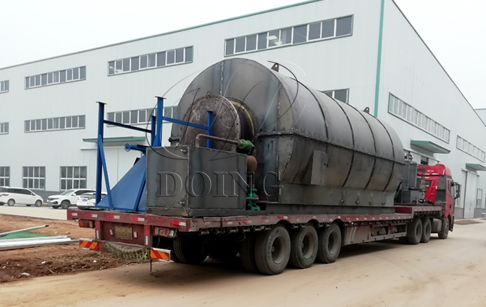 ​Two sets 12T/D tyres recycling to oil machinerys delivered to Liaoning, China