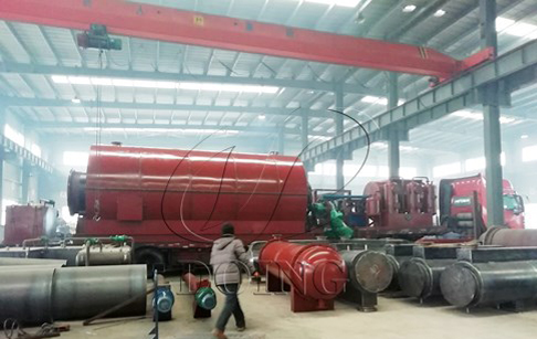 One set 12T/D pyrolysis tyre recycling plant delivered to Shandong, China