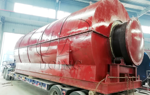 One set 12T/D waste tyre pyrolysis machine delivery to Guangxi, China