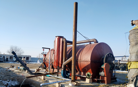 One set waste tyre to oil recycling plant installed in Gansu, China