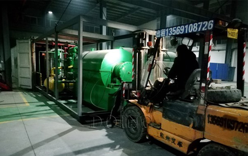 500kg/D customized tyre recycling pyrolysis plant to Switzerland on delivery