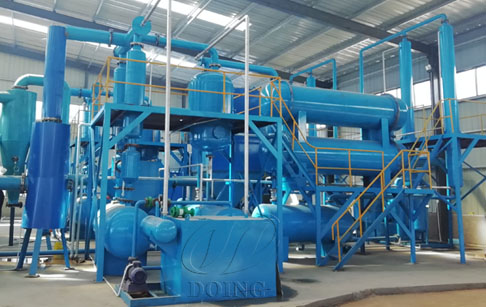 What raw materials can be processed by waste tyre pyrolysis plant