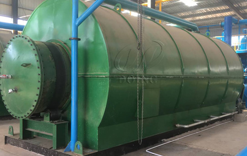 Waste tyre recycling to oil pyrolysis plant