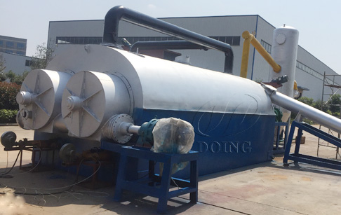 Newest technology continuous waste tyre pyrolysis plant
