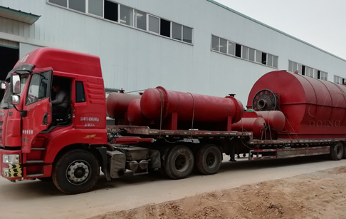 One set 12T waste tyre pyrolysis plant ordered by customers in Hebei, China was ...