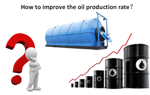How to improve the oil production rate of waste tyre to fuel oil machine?