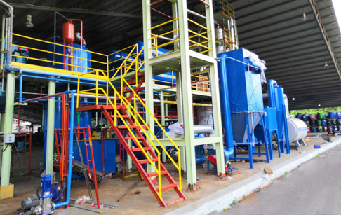 Waste tyre oil distillation machine