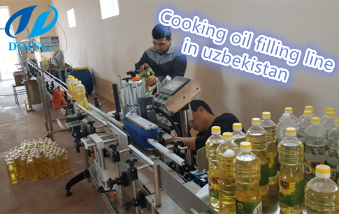 Cooking oil bottle filling line project in Uzbekistan has finished the installat...