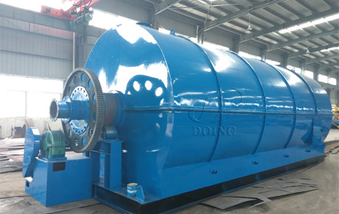 Tire pyrolysis process plant