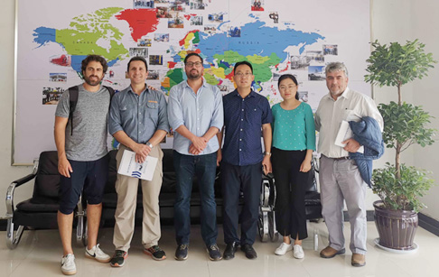 Four Chilean customers visited DOING company for waste tyre pyrolysis plant