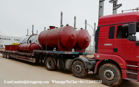 One set 5T waste motor oil to diesel refining plant was delivered to Mexico