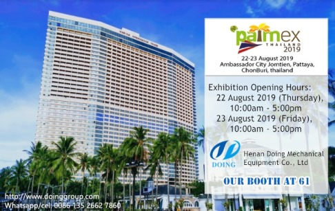 Doing Group will attend the PALMEX Thailand 2019 on 22 August 2019