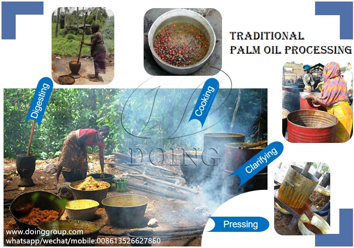 traditional palm oil processing method
