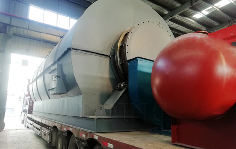 One set 12T waste tire to oil pyrolysis plant was delivered to Inner Mongolia