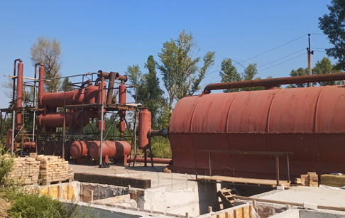 Scrap tire recycling to oil machine project installed in Ukraine