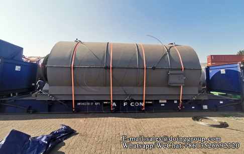 DOING's new generation 10T tire pyrolysis process plant will be shipped to Accra...