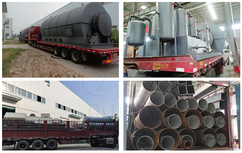 DOING company sent 6 sets 12T recycling waste tyre to oil plant to Fujian, China