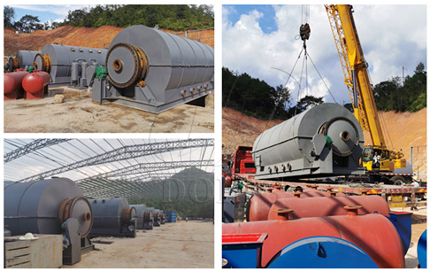 Six sets 12TPD tire pyrolysis process plant project in China