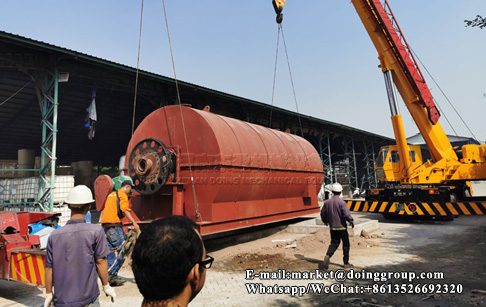 12T/D waste plastic pyrolysis plant installed in Indonesia