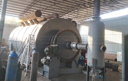 12T waste tire pyrolysis plant project installed in Serbia
