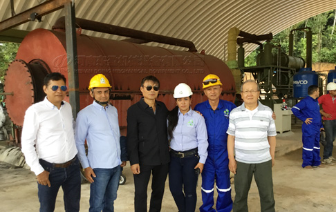 10T waste plastic and tire pyrolysis plant project in Colombia