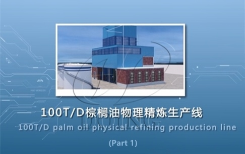 100tpd palm oil refinery plant, palm oil physical refining process 3D video(Part...