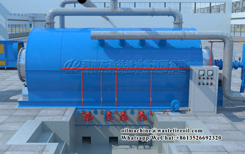 What is the process time of 5ton waste tyre pyrolysis plant?