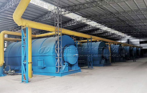 Batch Waste Tire Pyrolysis Plant