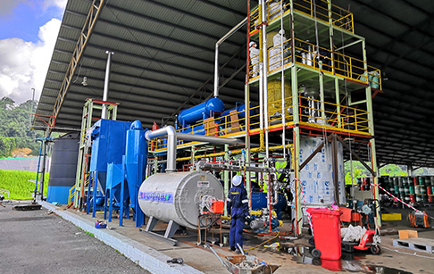 Waste Oil Recycling to Diesel Machine