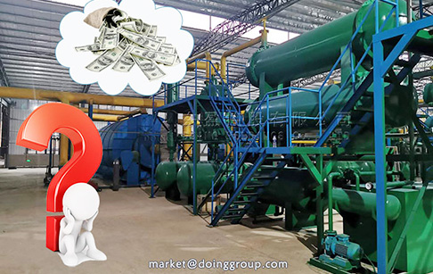 What is the price of tyre pyrolysis plant in Pakistan?