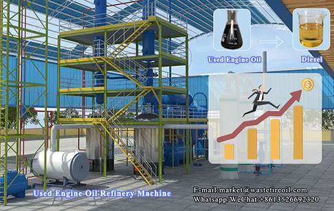 How to improve the production of used engine oil refinery machine?