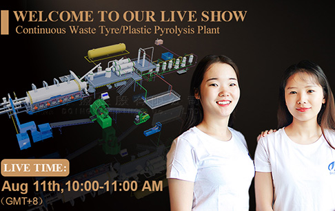 Live show about fully automatic waste tyre/plastic pyrolysis plant