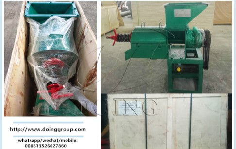 A 0.5t/h single screw palm oil presser has been packed for delivery to Colombia