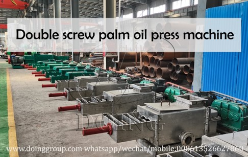 Double screw palm oil pressing machine, oil palm expeller machine