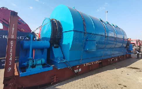 12TPD plastic pyrolysis plant was sent to France from DOING factory