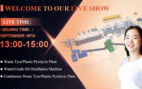 Waste tire/plastic pyrolysis plant manufacturing workshop live show