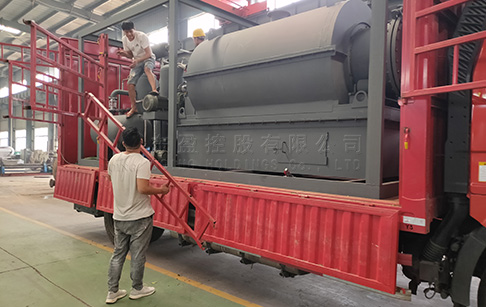 Highly integrated 500kg waste tire pyrolysis plant was delivered to Guatemala