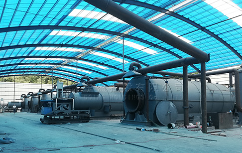 Six sets 15T tyre pyrolysis plant were installed in Hunan, China